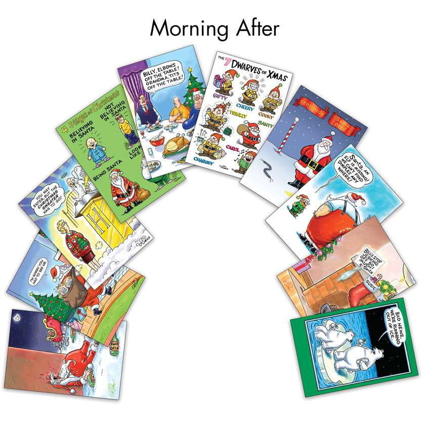 Morning After: Humorous Christmas Assorted Set of 10 Cards
