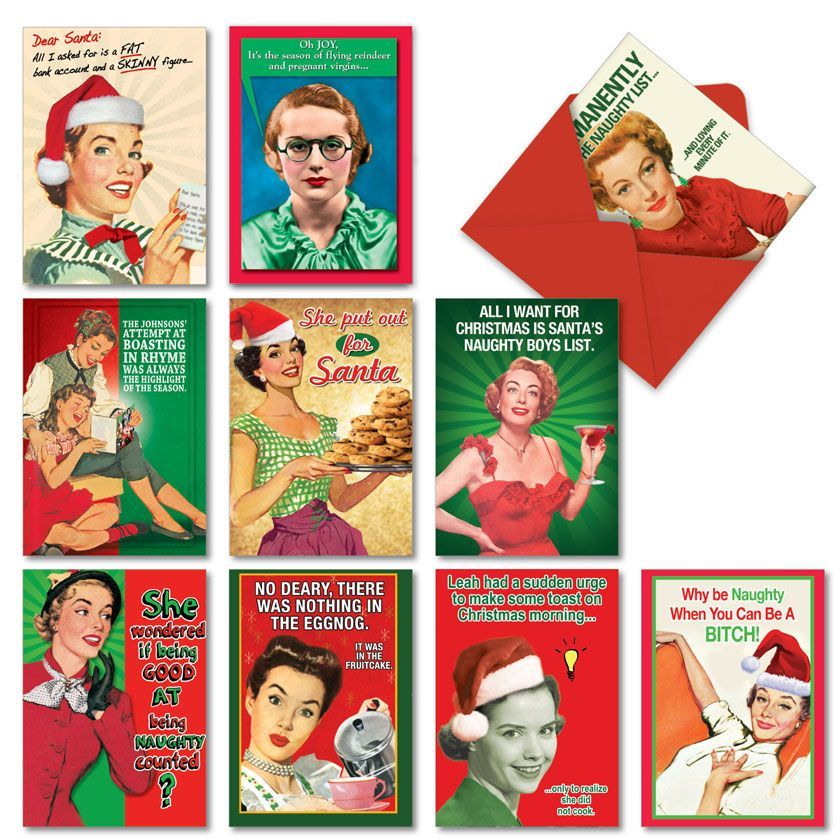Naughty Is Nice: Hysterical Christmas Assortment of 10 Cards