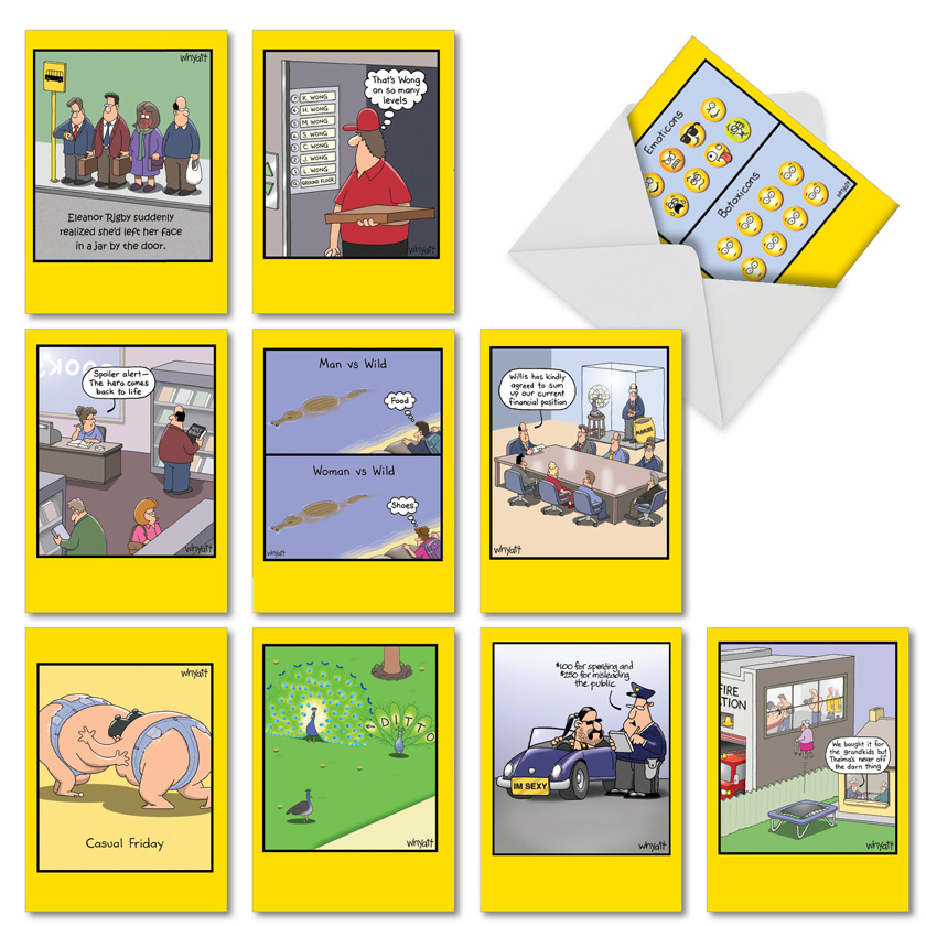 Whyatt's World: Funny Birthday Assorted Set of 10 Cards