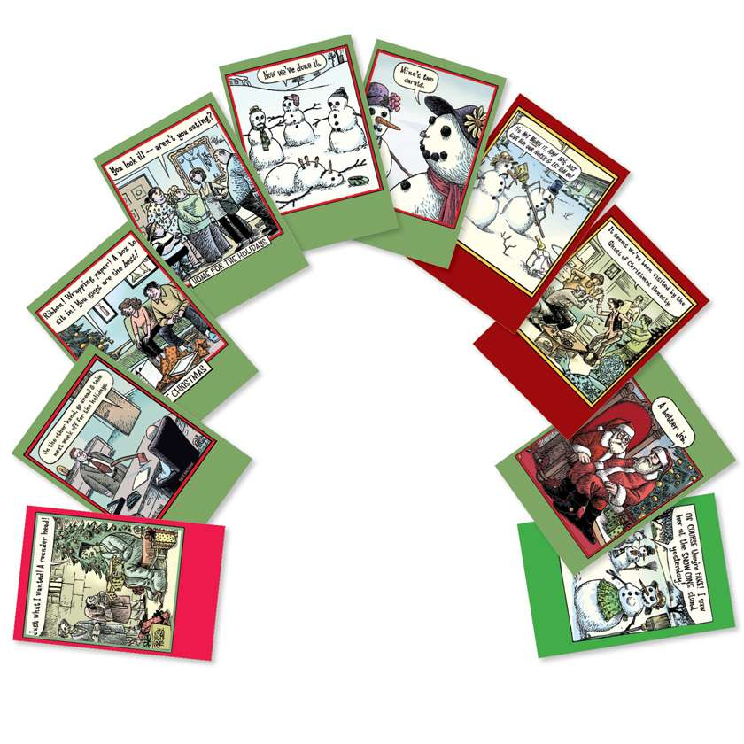 Bizarro By Piraro Christmas: Hysterical Christmas Assorted Set of 10 Cards