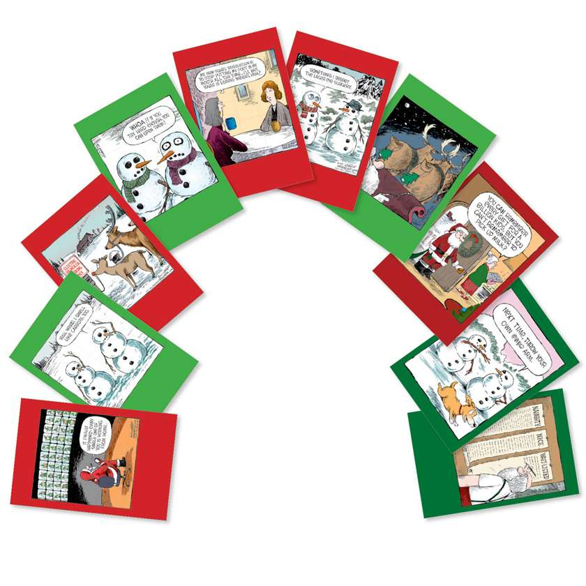 A Coverly Christmas: Funny Mixed Occasions Assorted Set of 10 Cards