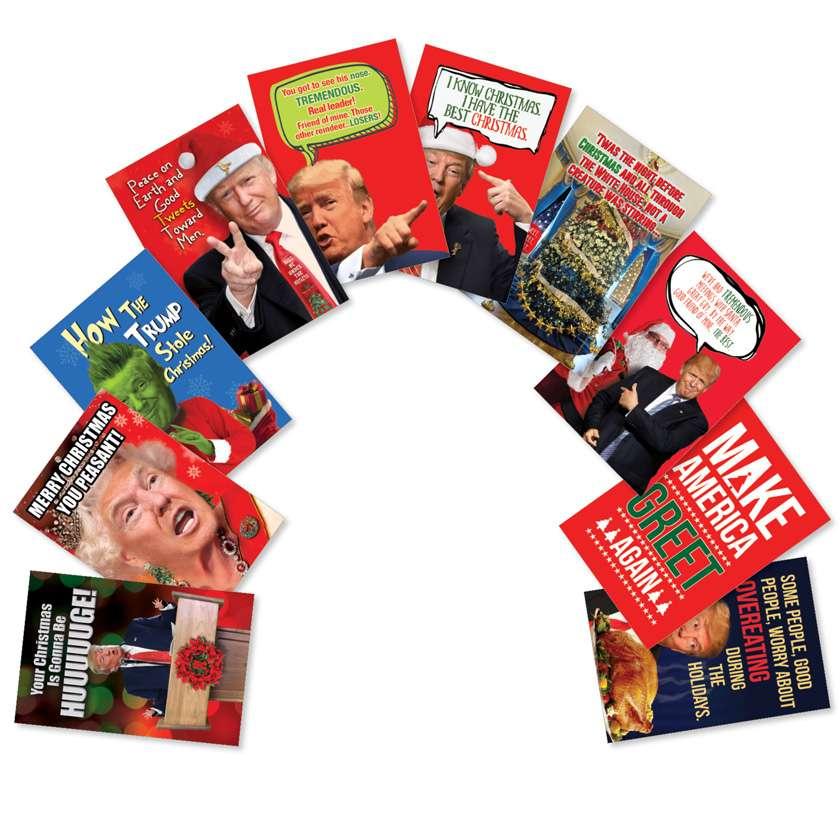 Make America Greet Again: Hilarious Christmas Assortment of 10 Cards