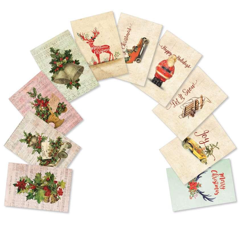 Vintage Christmas: Creative Christmas Assorted Set of 10 Cards