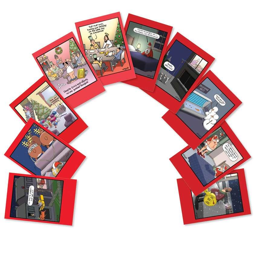 Whyatt's World Christmas: Humorous Christmas Assortment of 10 Cards