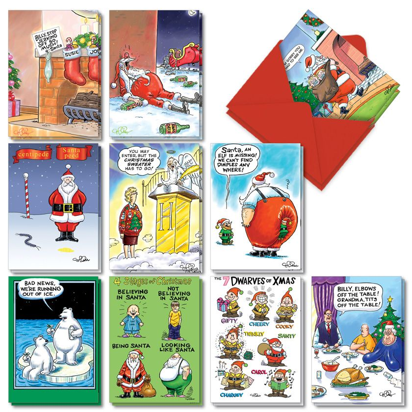 Morning After Christmas Assortment: Funny Merry Christmas Assorted Set of 20 Cards