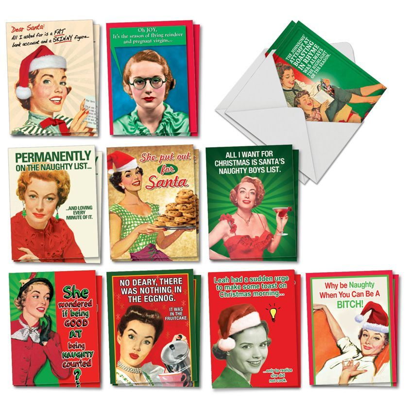 Naughty Is Nice: Humorous Merry Christmas Assortment of 20 Cards