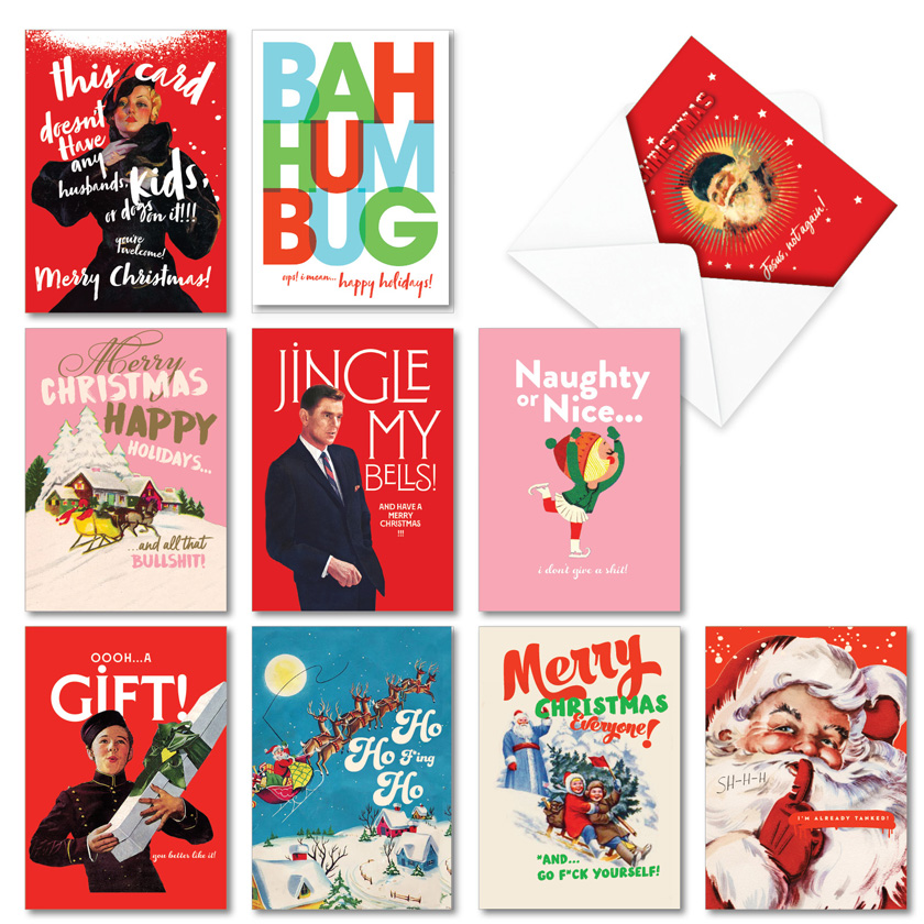 Happy O+D Holidays: Humorous Merry Christmas Assortment of 10 Cards