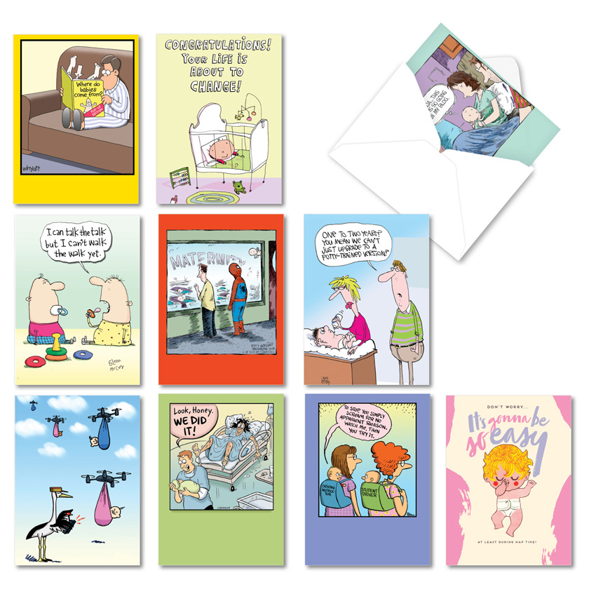 Special Deliveries: Funny Baby Mixed Set of 10 Cards