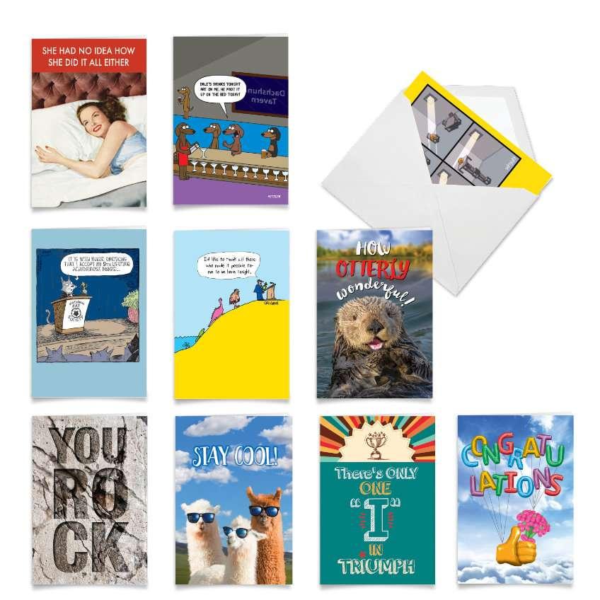 High Fives: Hilarious Congratulations Assortment of 10 Cards