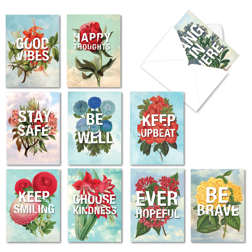 Timely Thoughts: Creative Friendship Blank Mixed Set of 10 Cards