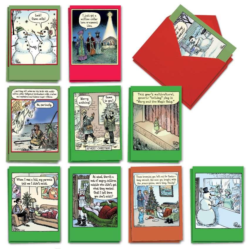 Bizarro by Piraro Holiday: Humorous Merry Christmas Assortment of 20 Cards