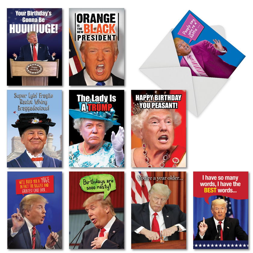 A Very Trumpy Birthday: Humorous Birthday Assortment of 10 Cards