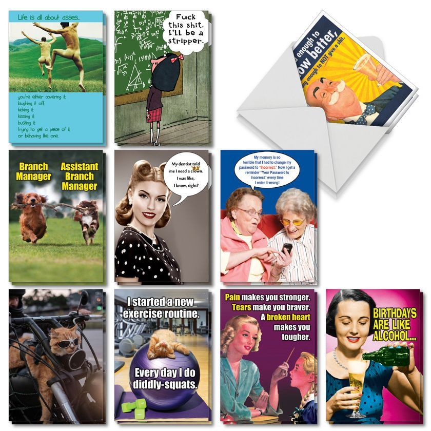 A Very Funny Birthday: Hysterical Birthday Assorted Set of 20 Cards