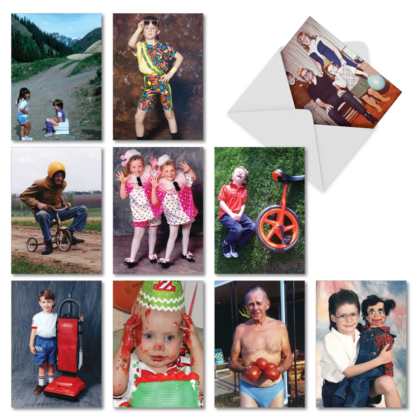 Another Year Older, Another Awkward Family Photo: Hilarious Birthday Mixed Set of 10 Cards