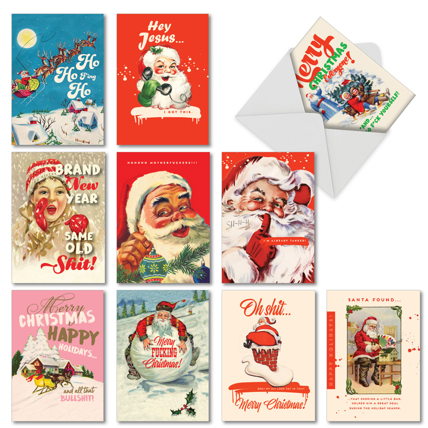 Very Merry O+D: Hilarious Merry Christmas Mixed Set of 10 Cards