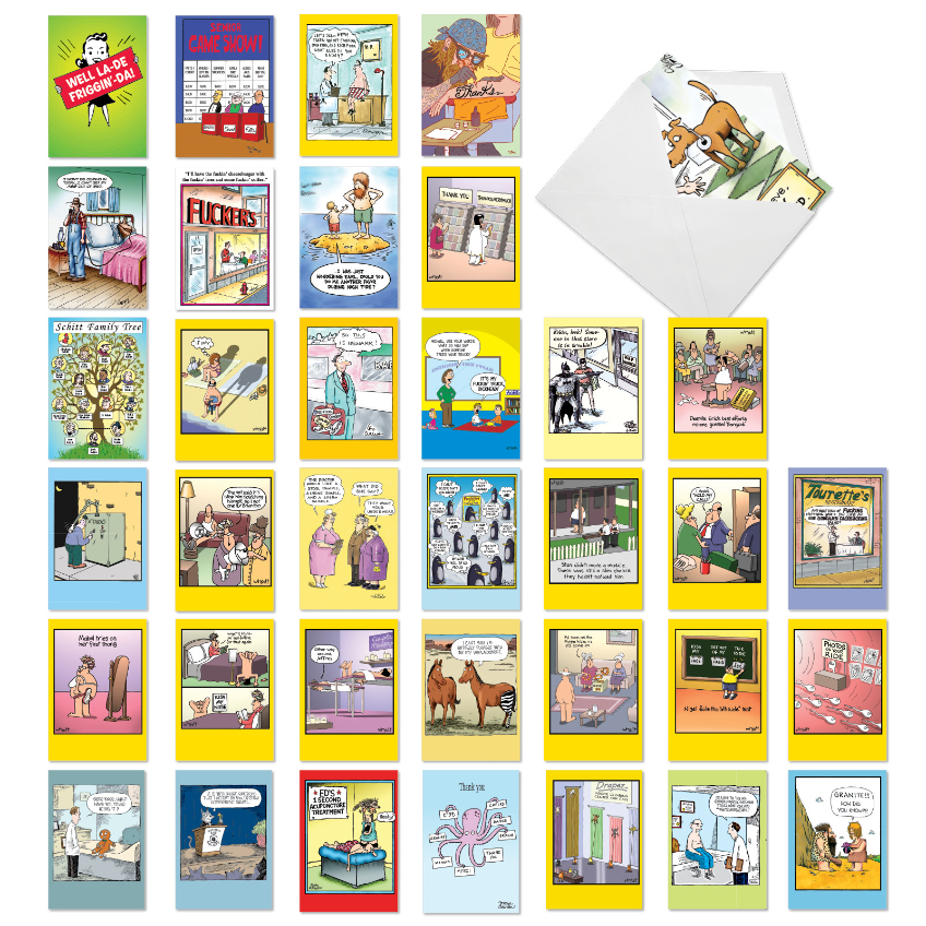 Favorite Toons Collection: Hilarious Mixed Occasions Assorted Set of 36 Cards