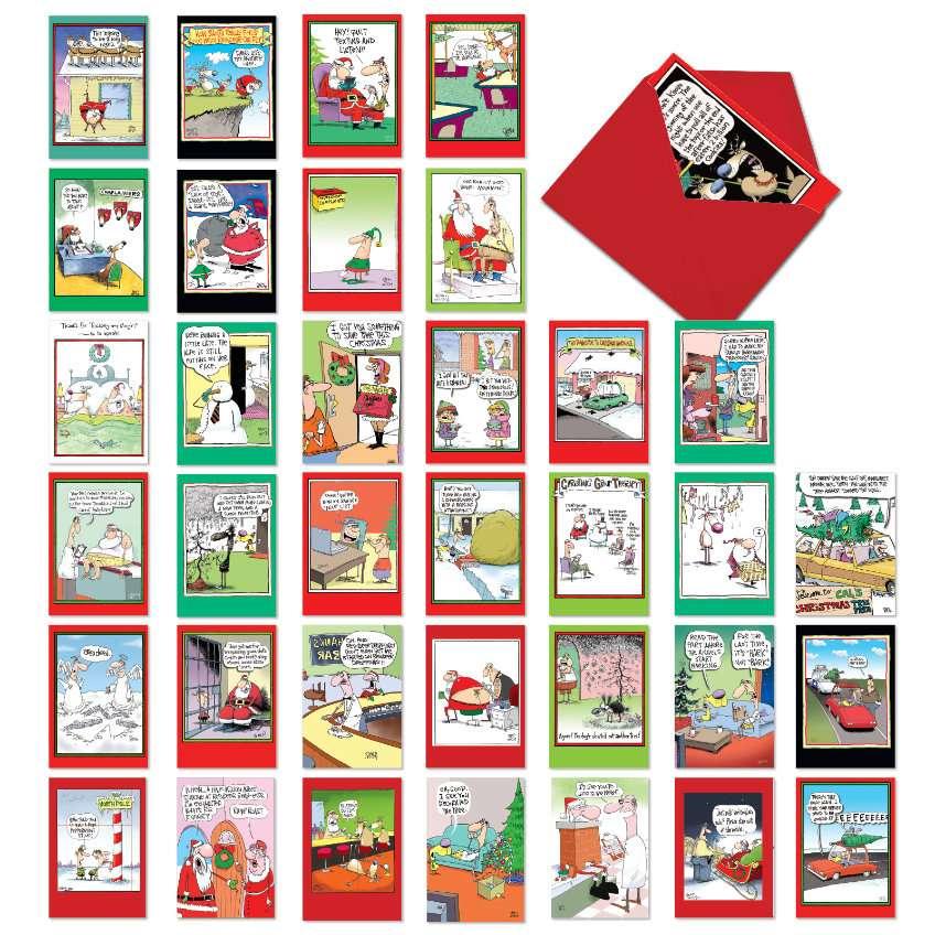 A McCoy Bros. Christmas: Humorous Merry Christmas Assortment of 36 Cards