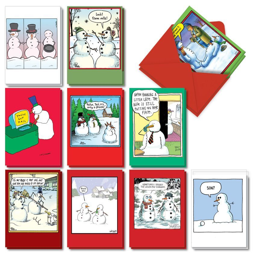 Let It Snowman: Hilarious Merry Christmas Assortment of 20 Cards