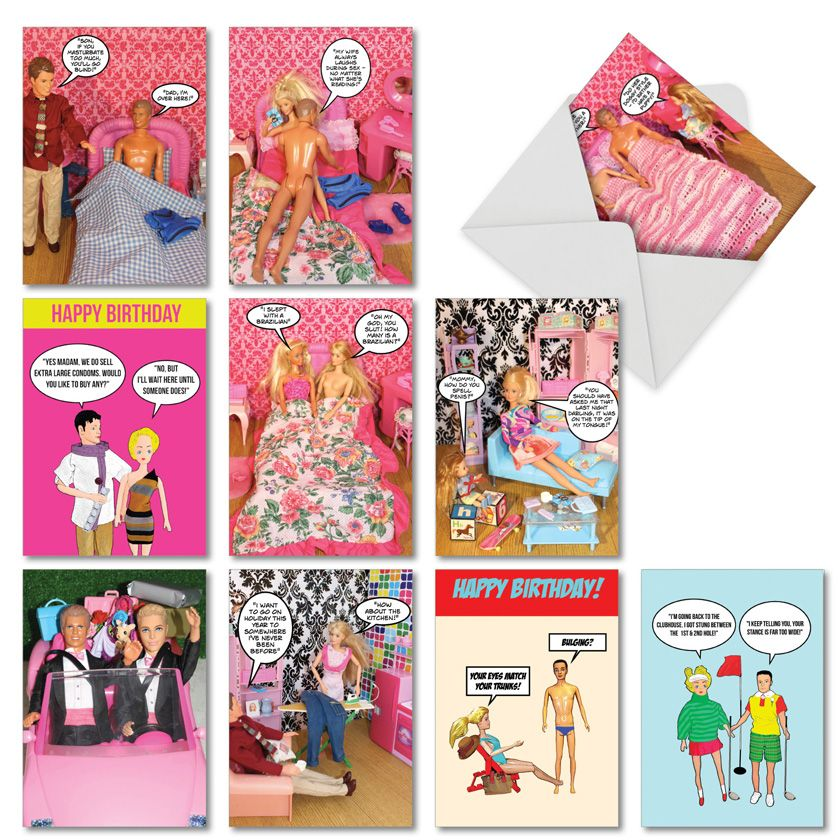 Kirsty Hotson's Hotties: Humorous Mixed Occasions Assortment of 10 Cards