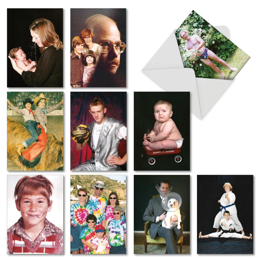 Awkward Family Photos for All Occasions: Hysterical Mixed Occasions Assorted Set of 10 Cards