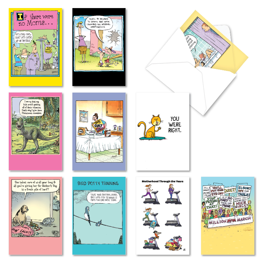 Mom Messages: Humorous Mother's Day Assortment of 10 Cards