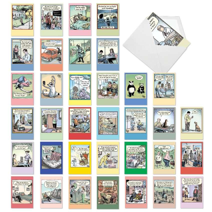 A Bizarro Bash: Humorous Birthday Assorted Set of 36 Cards