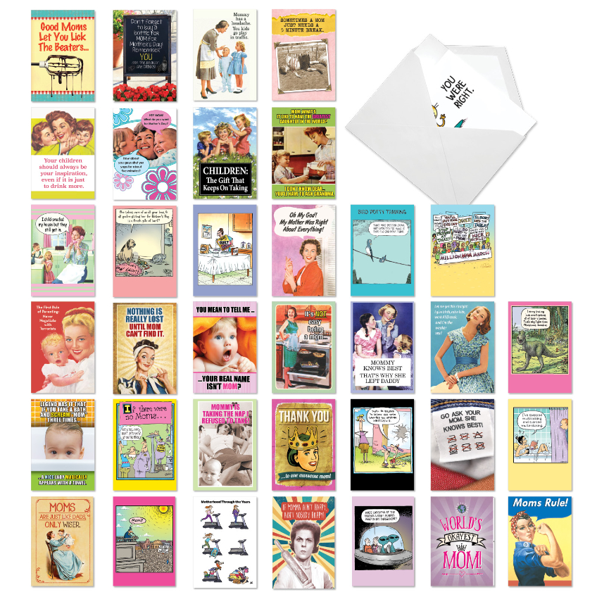 Mother Lode: Hilarious Mother's Day Assorted Set of 36 Cards