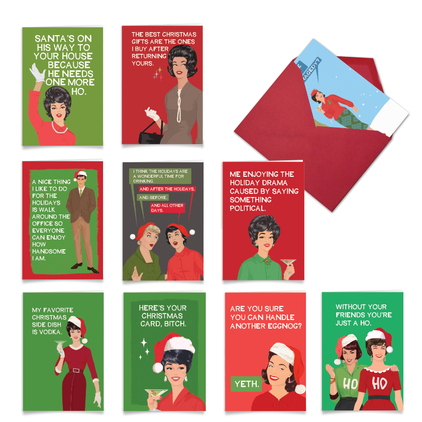 Blunt For The Holidays: Hysterical Merry Christmas Assortment of 10 Cards