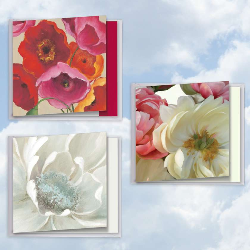Big Blooms: Creative Thank You Mixed Set of 3 Cards
