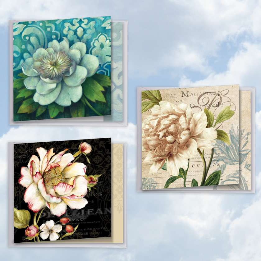 Blossoms of Gratitude: Stylish Thank You Assortment of 3 Cards