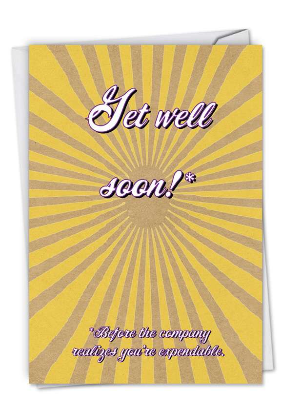Get Well From All: Humorous Get Well Paper Card