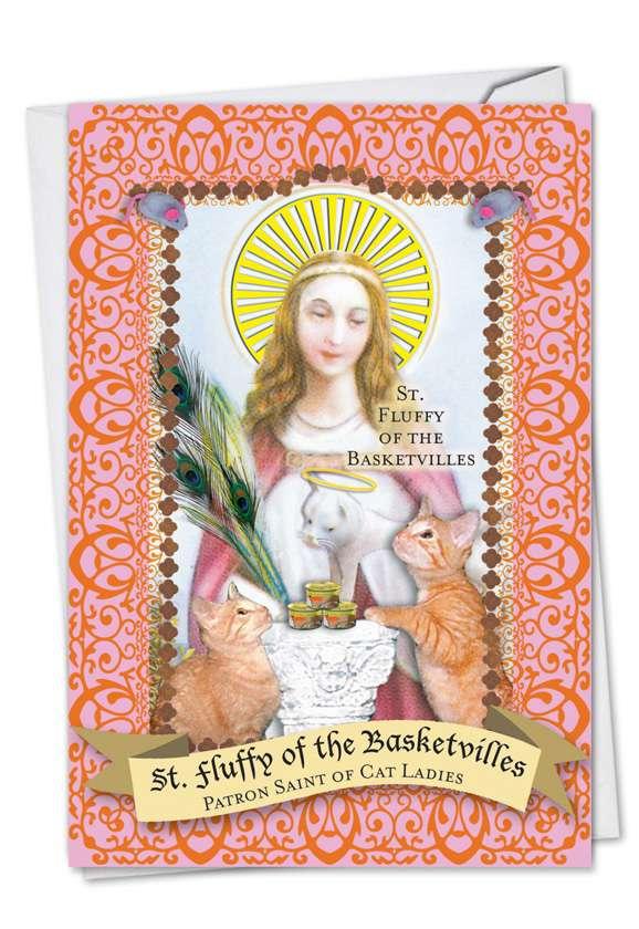 St. of Cat Ladies: Hilarious Birthday Paper Card