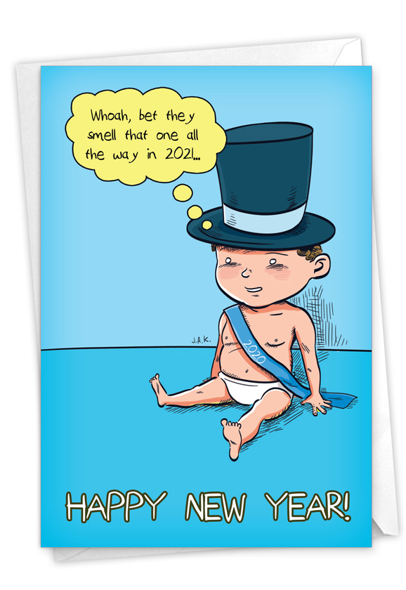 Baby New Year - 2020: Humorous New Year Paper Card