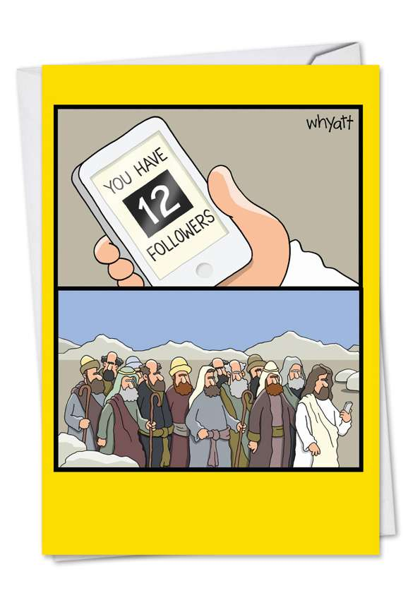 12 Followers: Hysterical Easter Paper Greeting Card