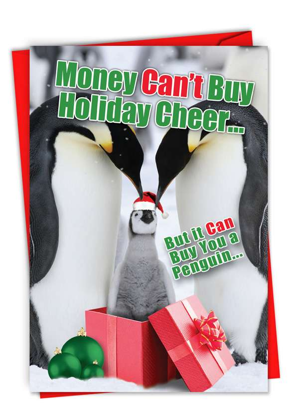 Buy A Penguin-Christmas: Humorous Happy Holidays Card