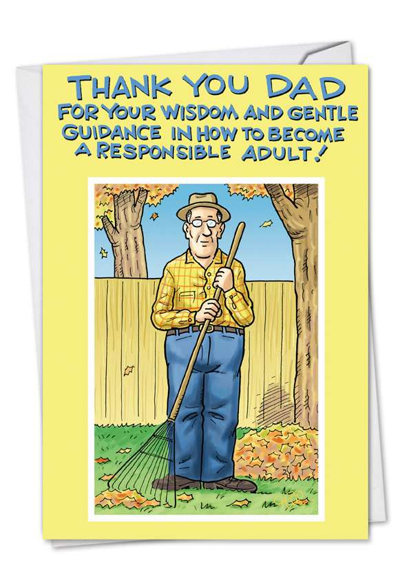 Thank You Dad: Funny Birthday Paper Greeting Card