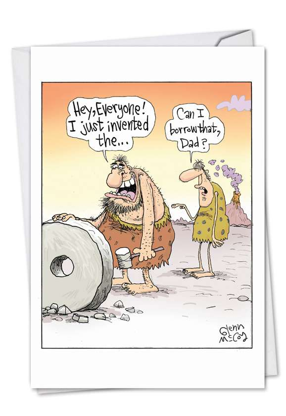 Borrow Your Wheel: Funny Father's Day Paper Card