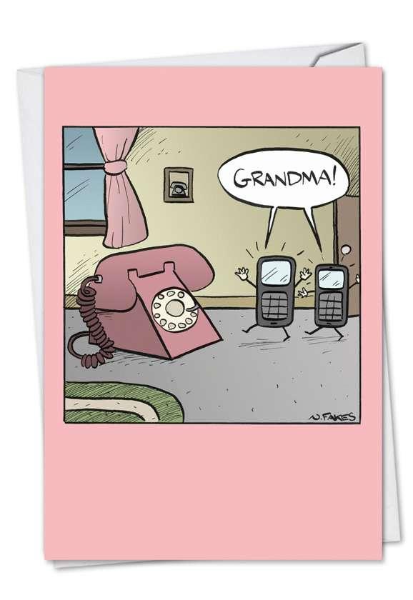 Grandma Phone: Hilarious Birthday Paper Card