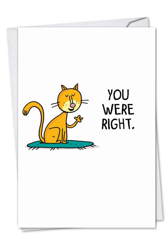 You Were Right: Humorous Sorry Paper Card