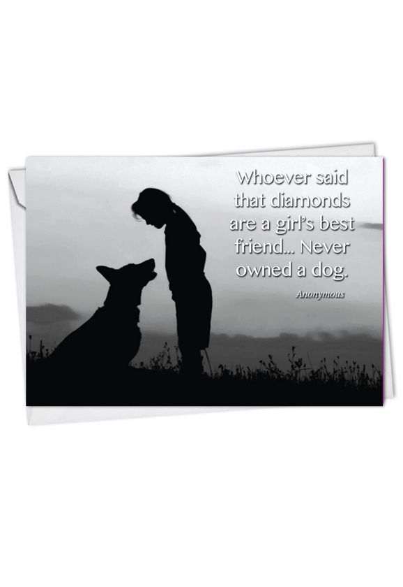 Canine Comments: Creative Blank Printed Greeting Card