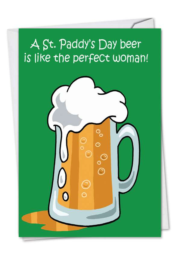 St. Paddy's Day Beer: Hilarious St. Patrick's Day Paper Greeting Card