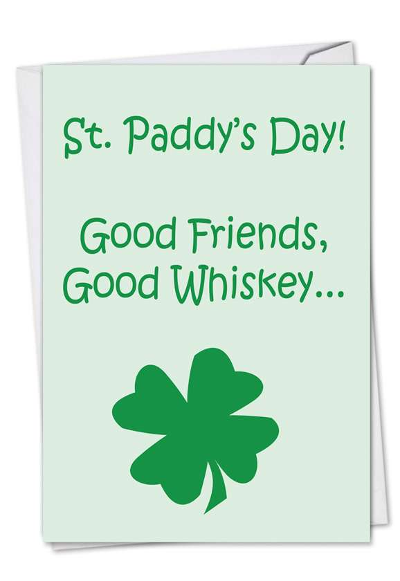 Bad Decisions: Humorous St. Patrick's Day Printed Greeting Card