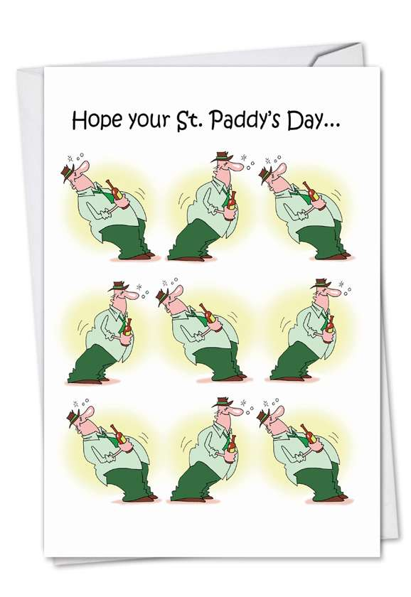 St. Paddy Rocks: Hysterical St. Patrick's Day Paper Card