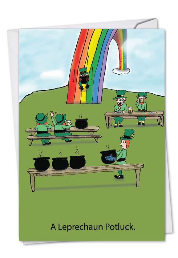Leprechaun Potluck: Funny St. Patrick's Day Greeting Card