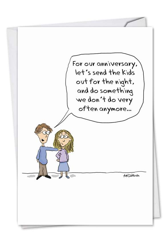 Send The Kids Out: Funny Anniversary Printed Card
