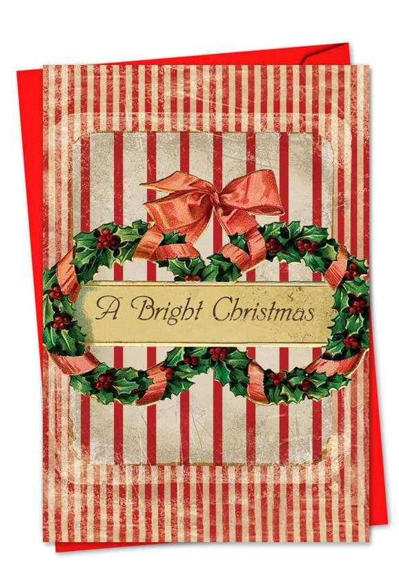 Holiday Memories: Stylish Christmas Paper Greeting Card
