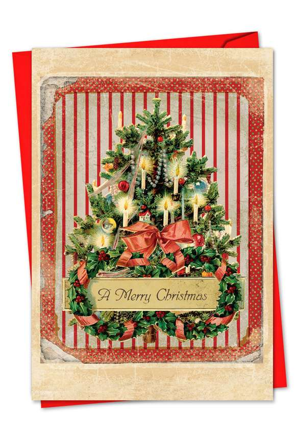 Holiday Memories: Creative Christmas Printed Greeting Card