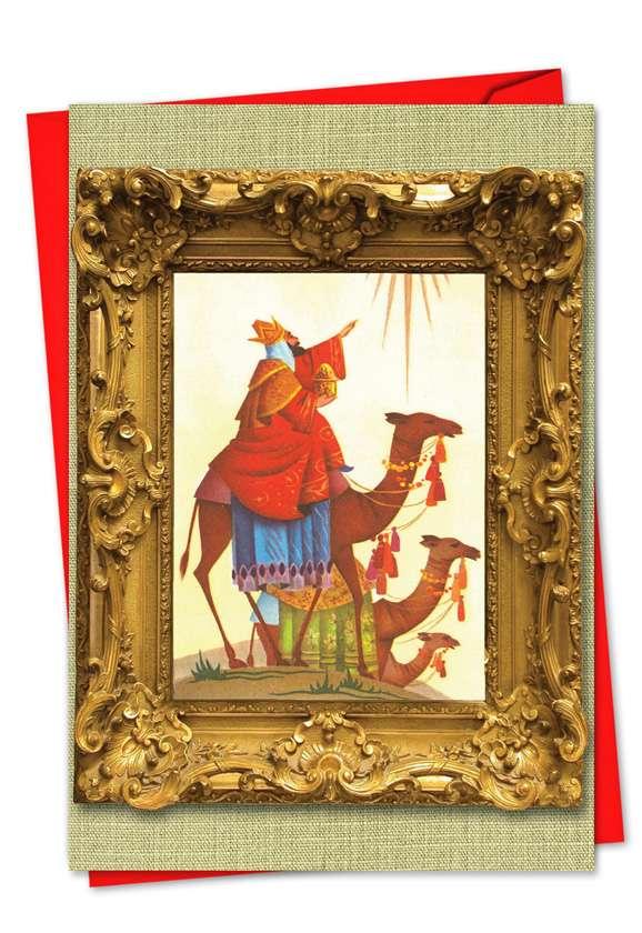 We Three Kings: Creative Christmas Greeting Card