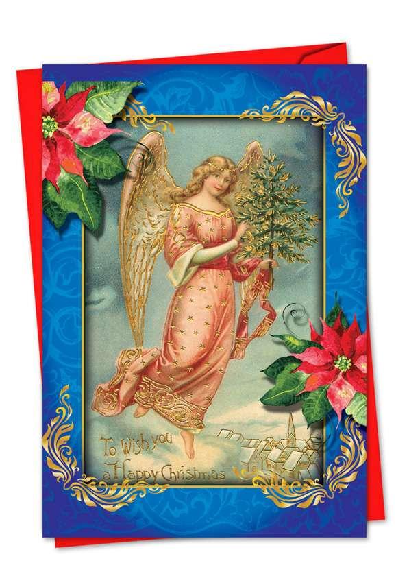 Christmas Angels: Stylish Christmas Greeting Card