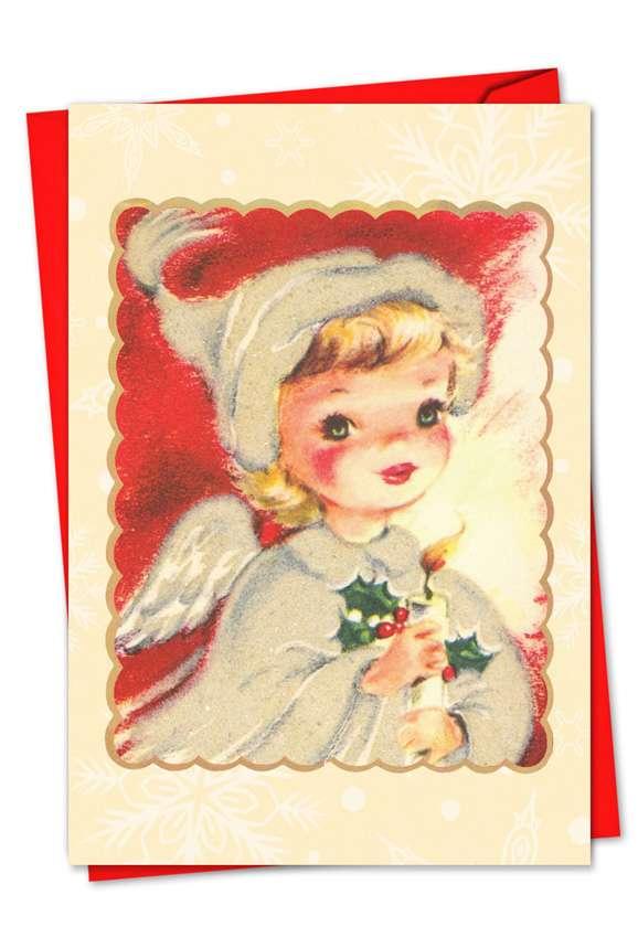 A Crimson Christmas: Stylish Christmas Greeting Card